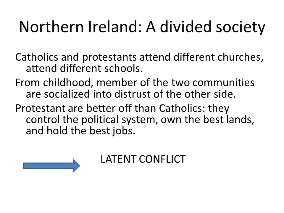 Northern Ireland: A divided society