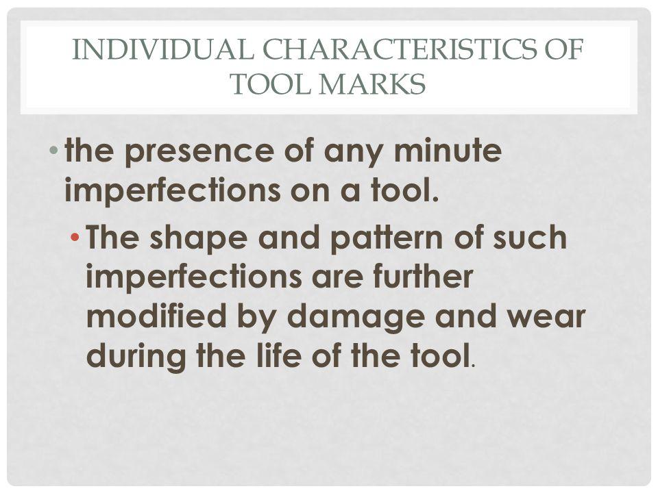 Individual Characteristics of Tool Marks