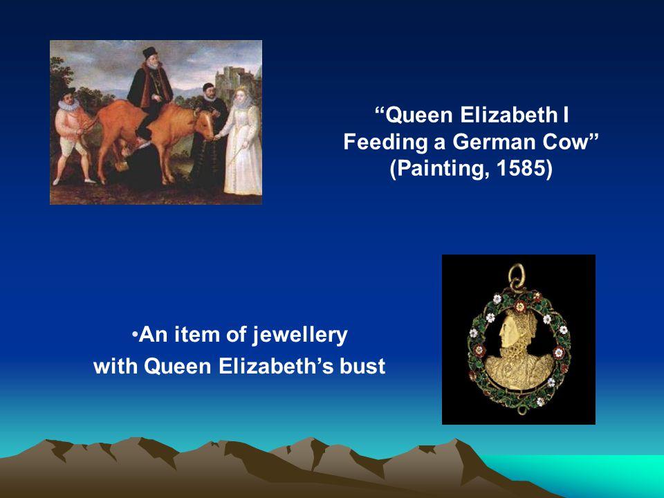 with Queen Elizabeth's bust