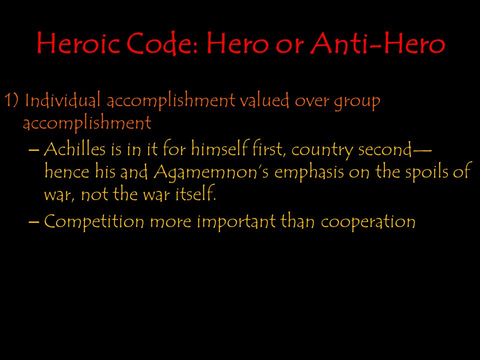 Heroic Code: Hero or Anti-Hero