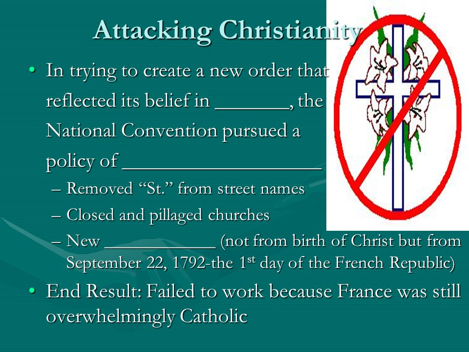 Attacking Christianity
