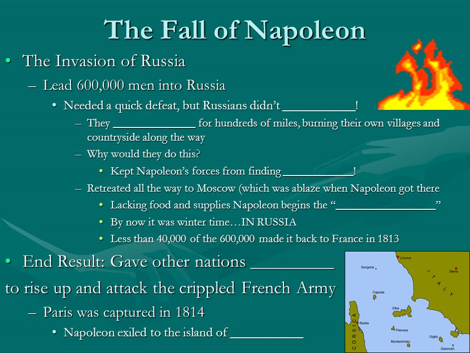 The Fall of Napoleon The Invasion of Russia