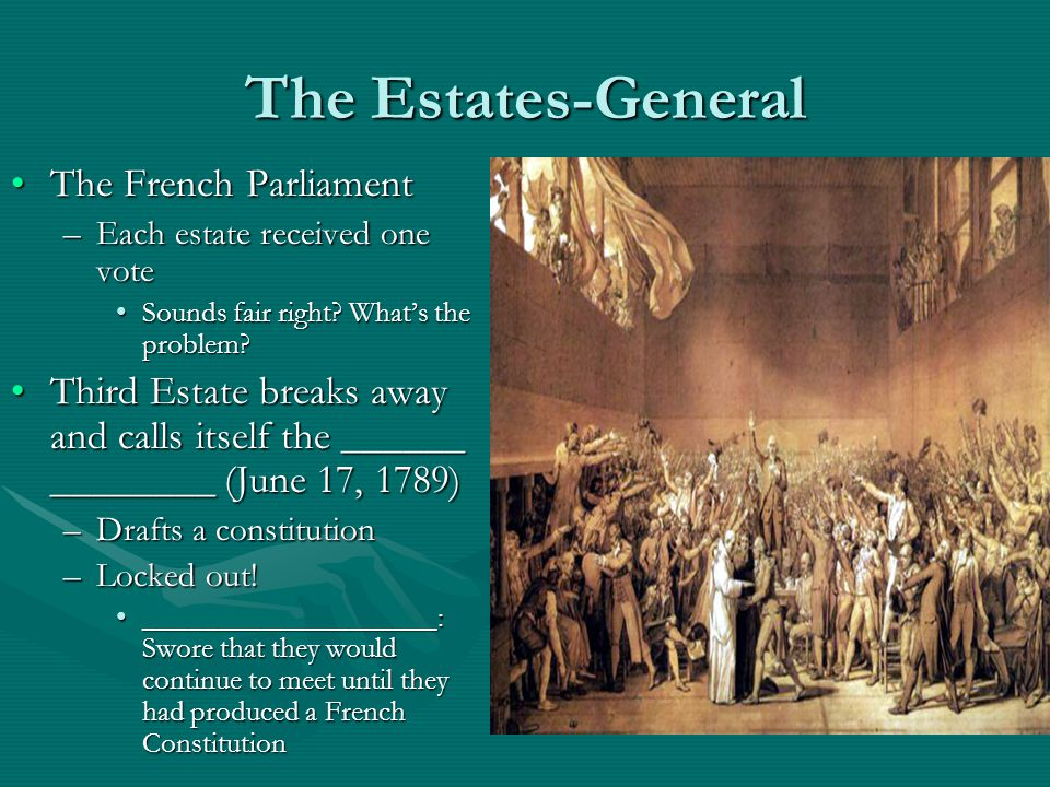 The Estates-General The French Parliament