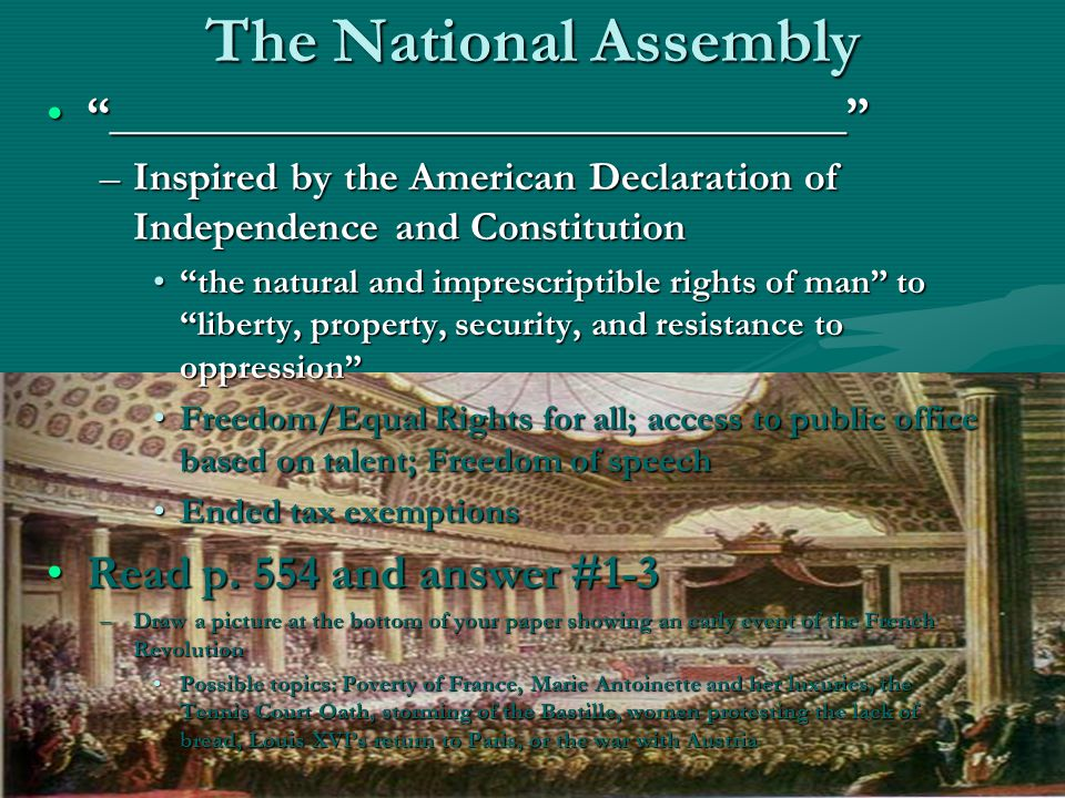 The National Assembly _______________________________