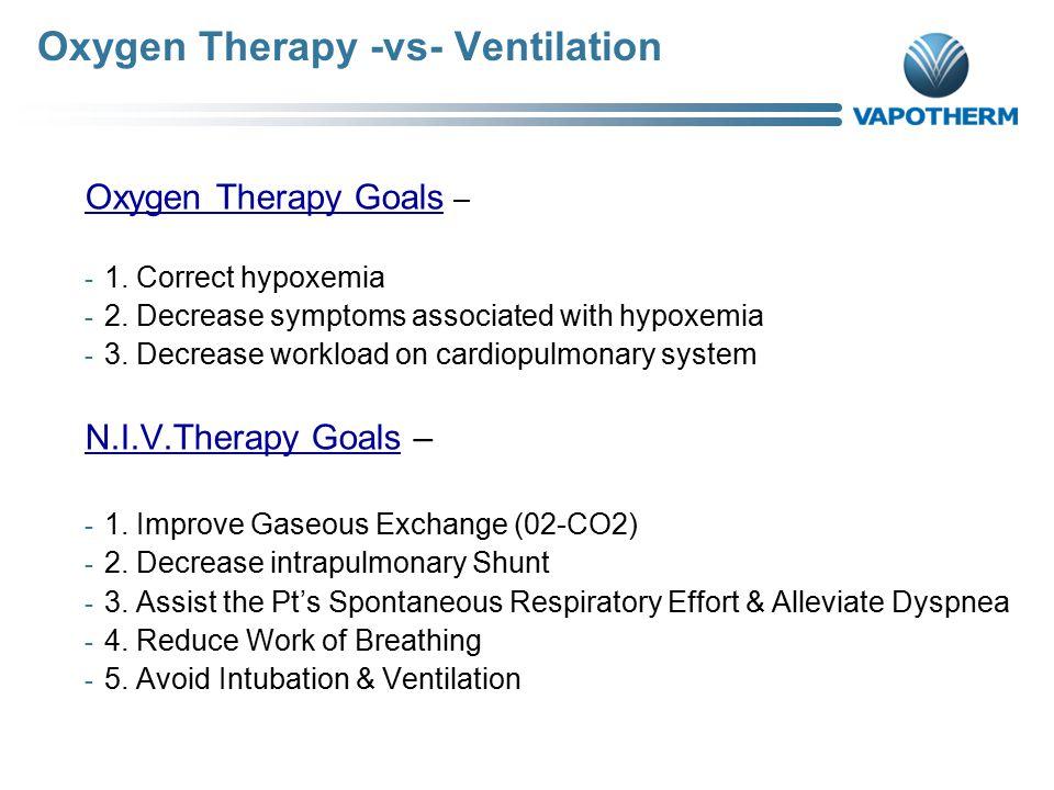 Oxygen Therapy -vs- Ventilation