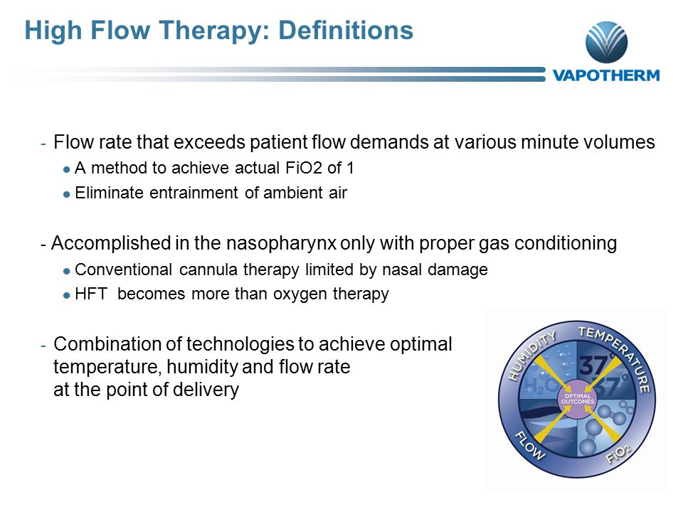 High Flow Therapy: Definitions