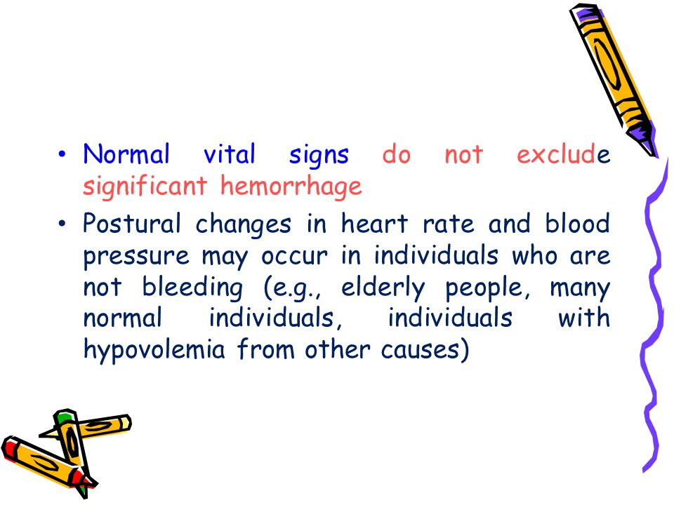 Normal vital signs do not exclude significant hemorrhage