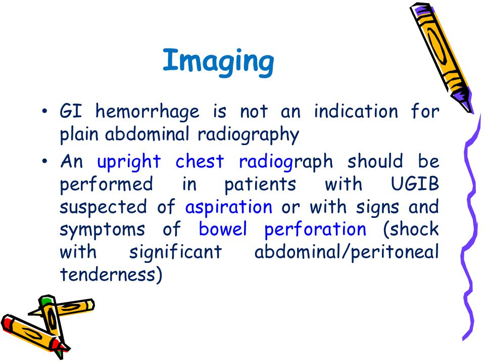 Imaging GI hemorrhage is not an indication for plain abdominal radiography.