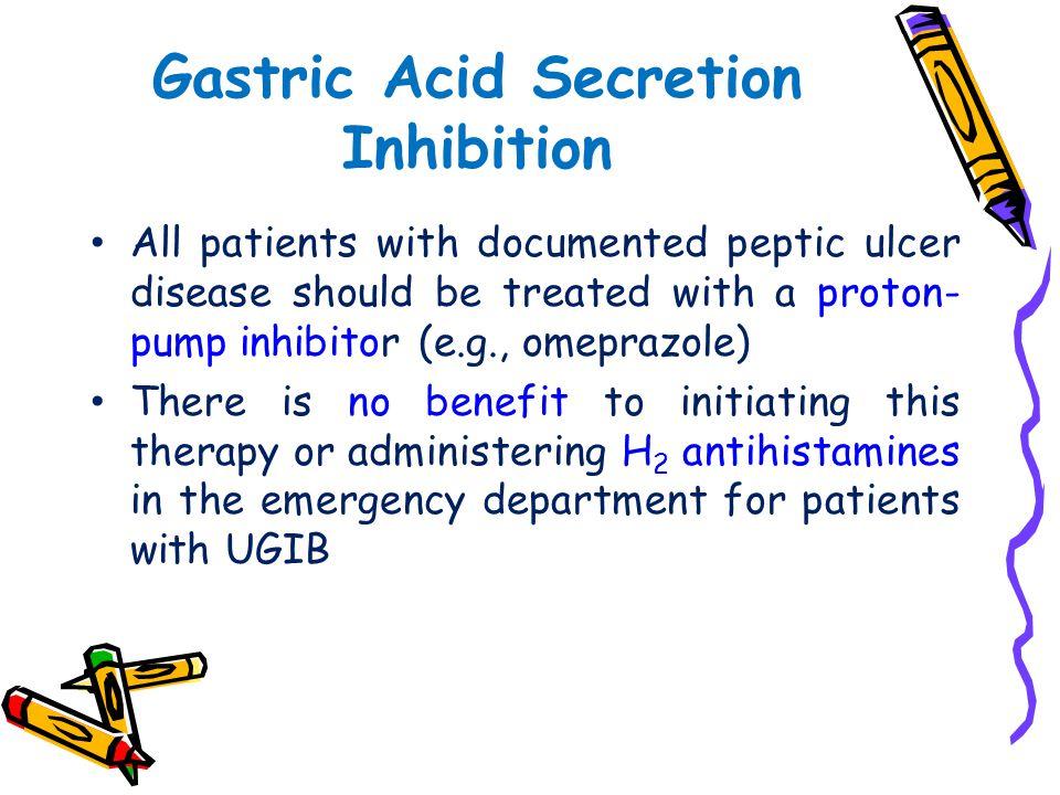 Gastric Acid Secretion Inhibition