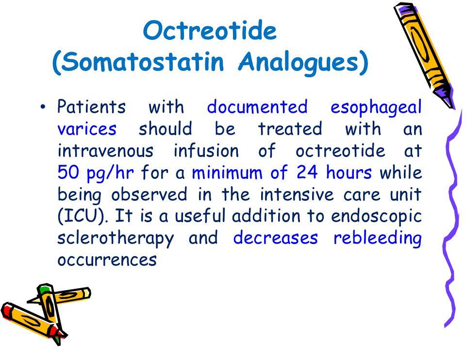 Octreotide (Somatostatin Analogues)