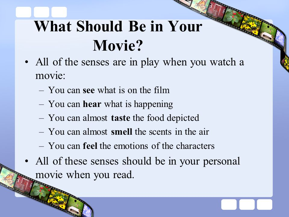 What Should Be in Your Movie
