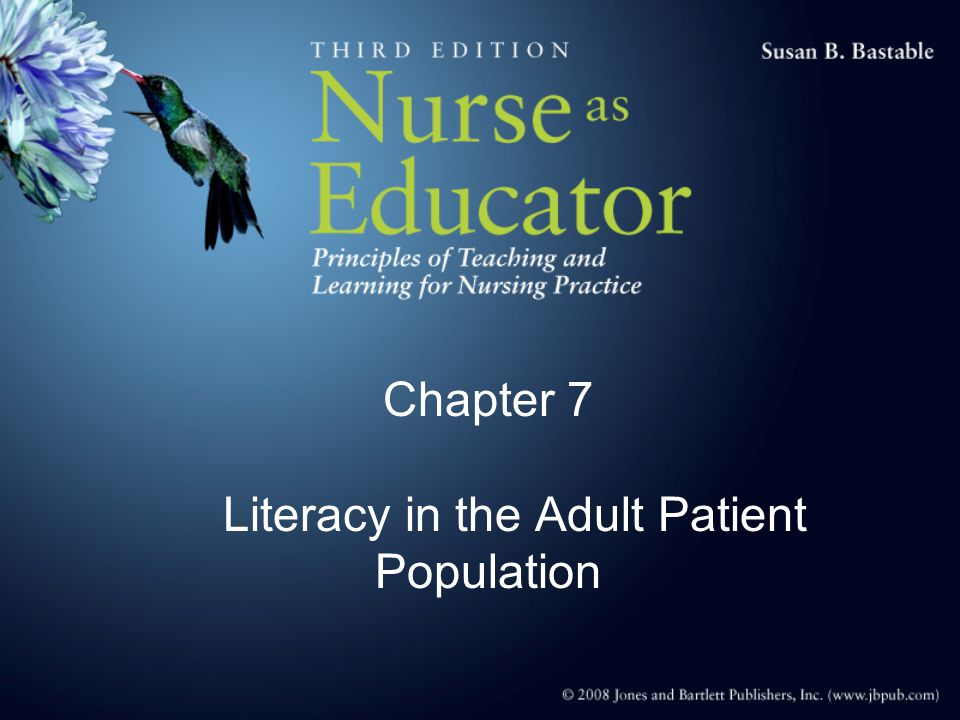 Chapter 7 Literacy in the Adult Patient Population