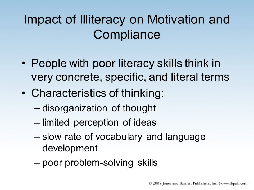 Impact of Illiteracy on Motivation and Compliance