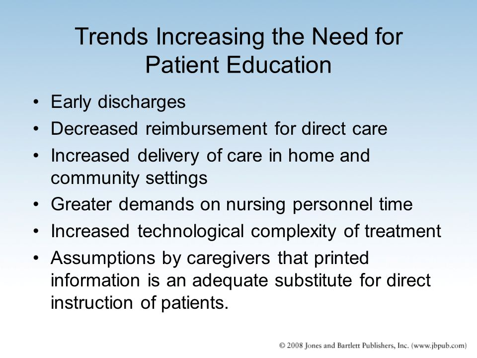 Trends Increasing the Need for Patient Education