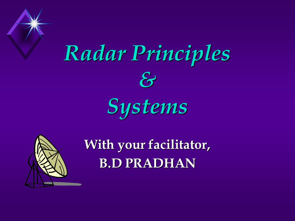 Radar Principles & Systems