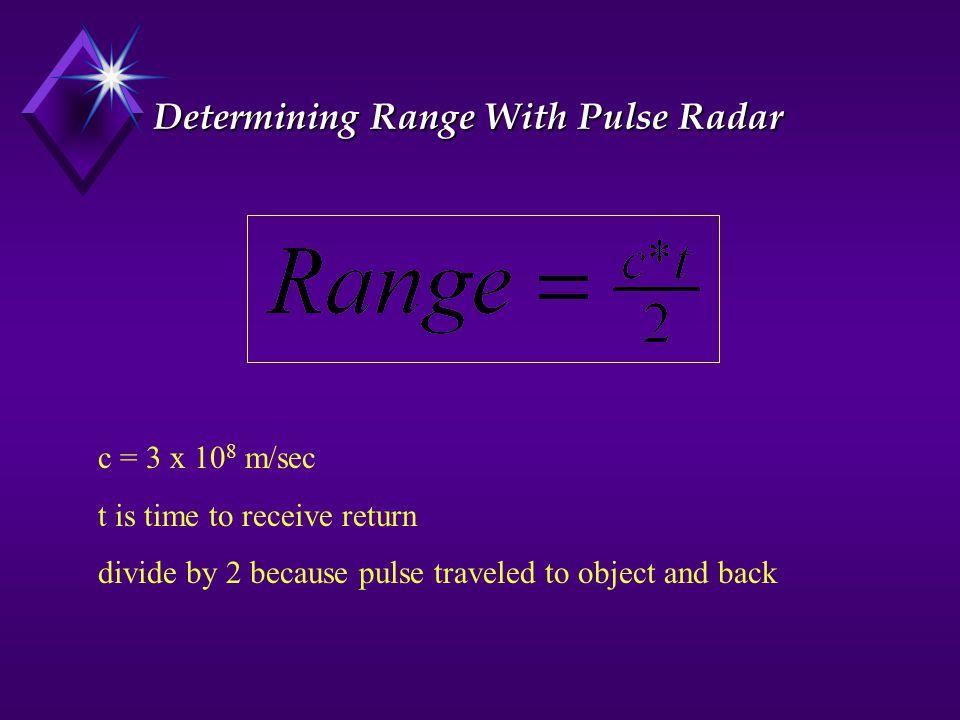 Determining Range With Pulse Radar