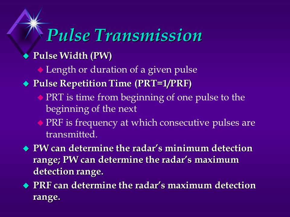 Pulse Transmission Pulse Width (PW)