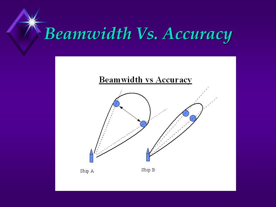 Beamwidth Vs. Accuracy