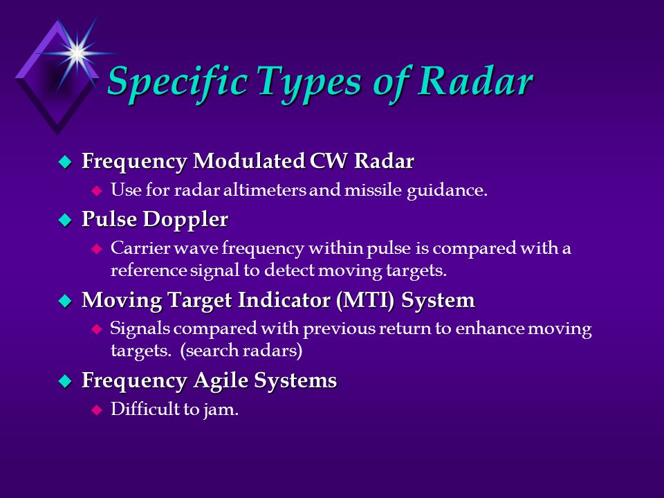 Specific Types of Radar