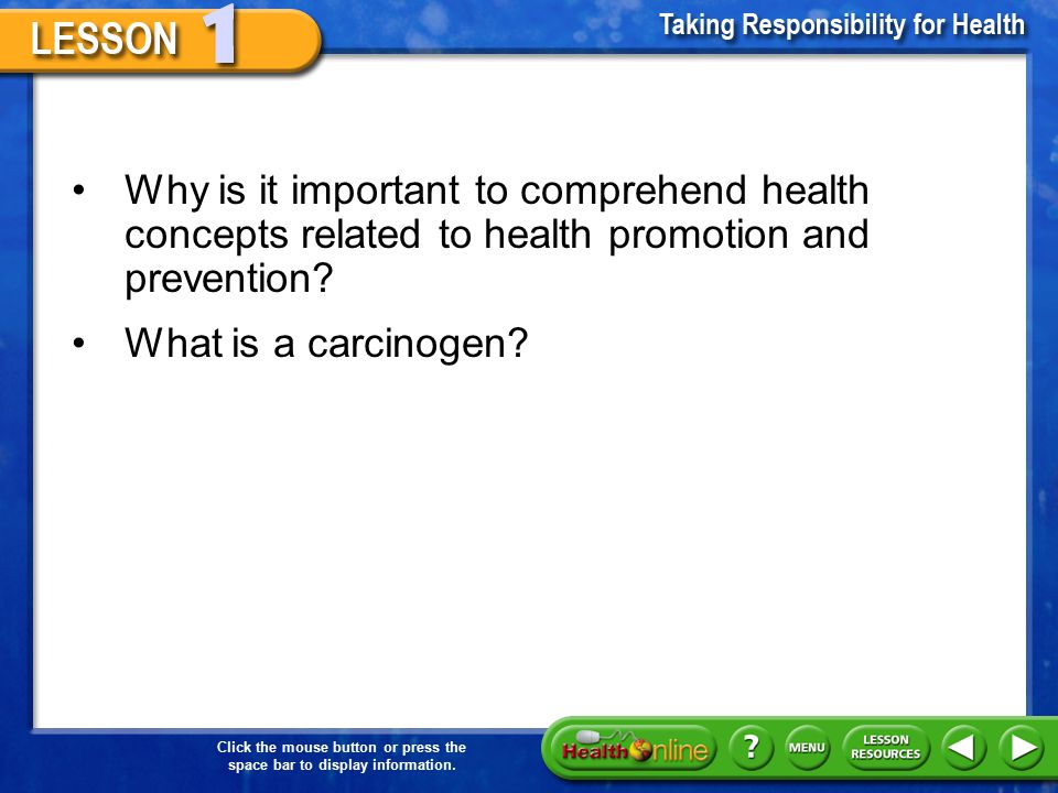 Why is it important to comprehend health concepts related to health promotion and prevention
