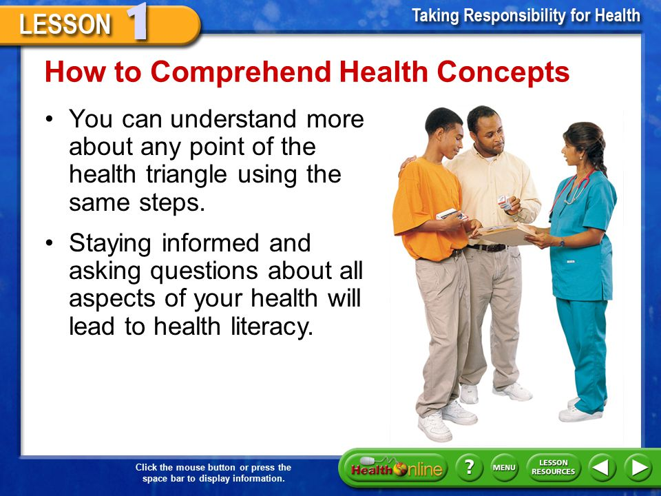How to Comprehend Health Concepts