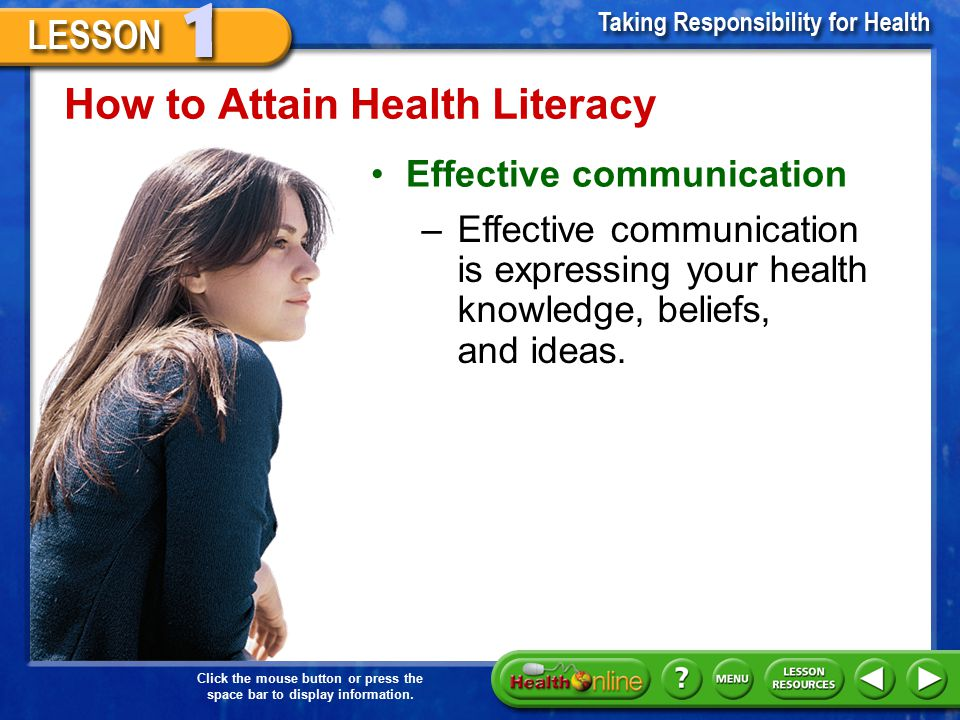 How to Attain Health Literacy