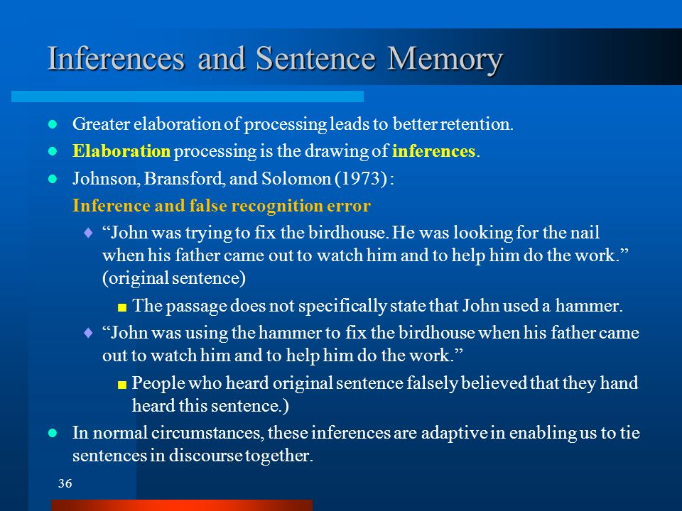 Propositions and Sentence Memory