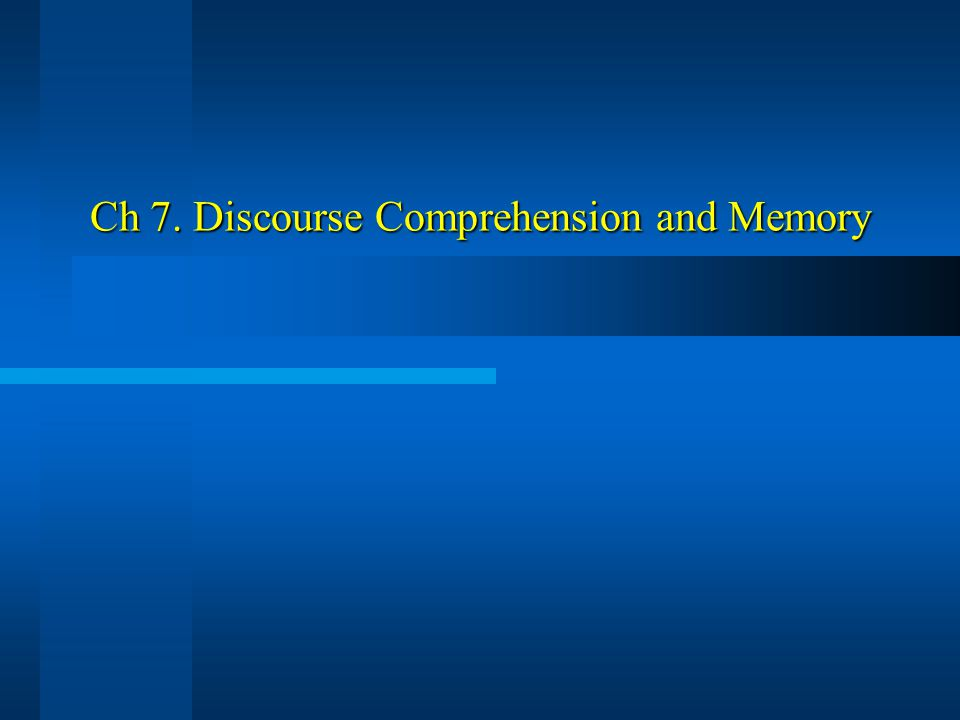 Introduction Connected discourse Reasons of research