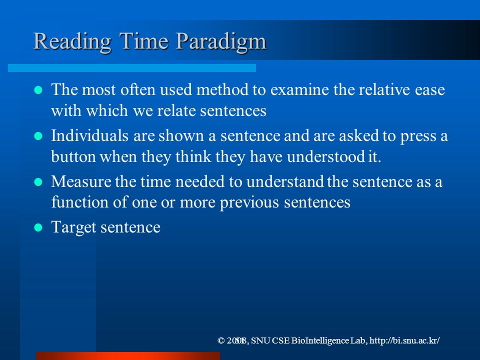 Sentence Relation Strategies and Comprehension (1/2)