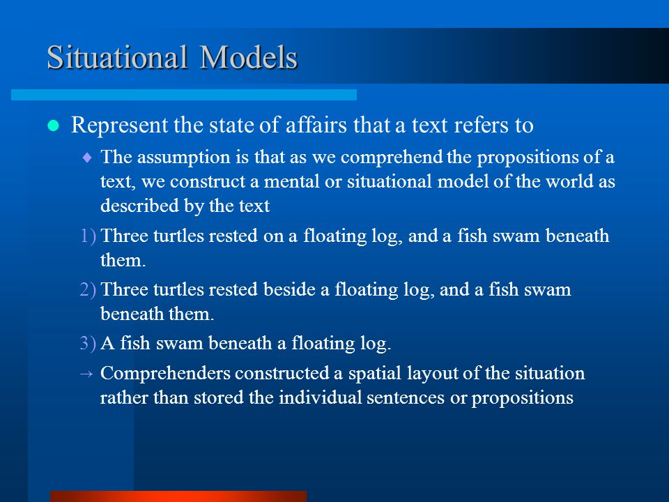 Situational Models Survey text with geographic terms(draw test)