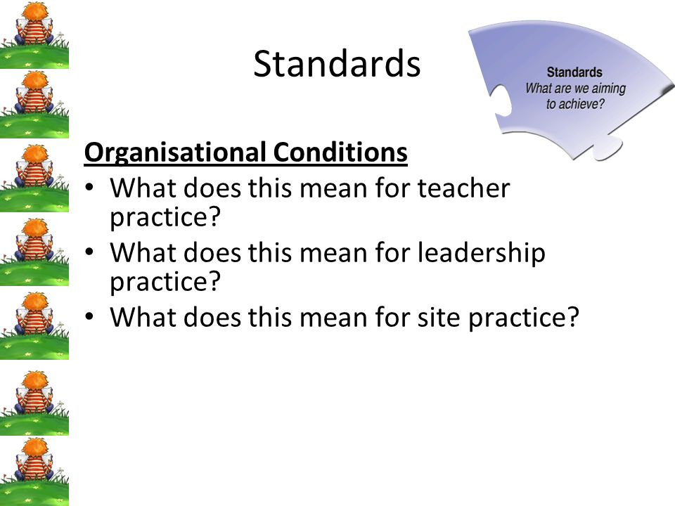 Standards Organisational Conditions