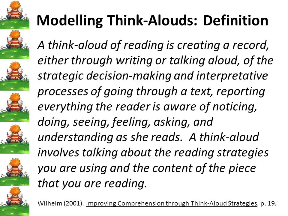 Modelling Think-Alouds: Definition