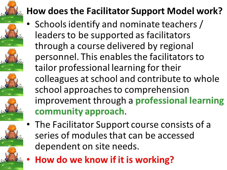 How does the Facilitator Support Model work
