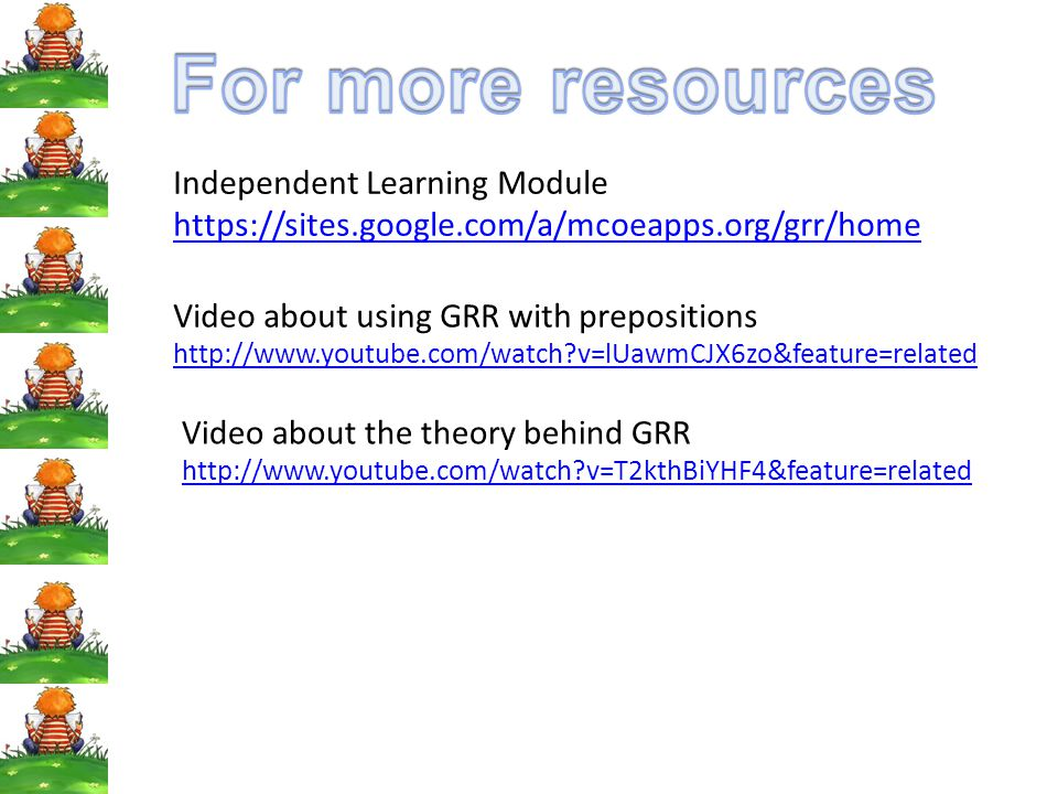 For more resources Independent Learning Module