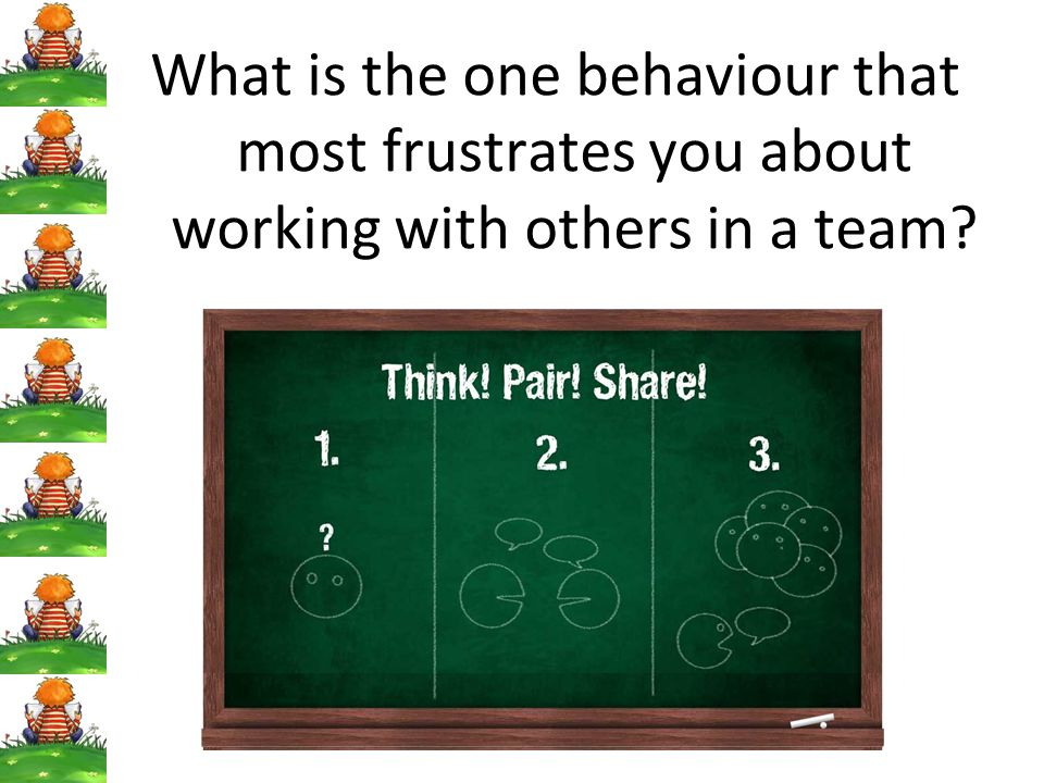 What is the one behaviour that most frustrates you about working with others in a team
