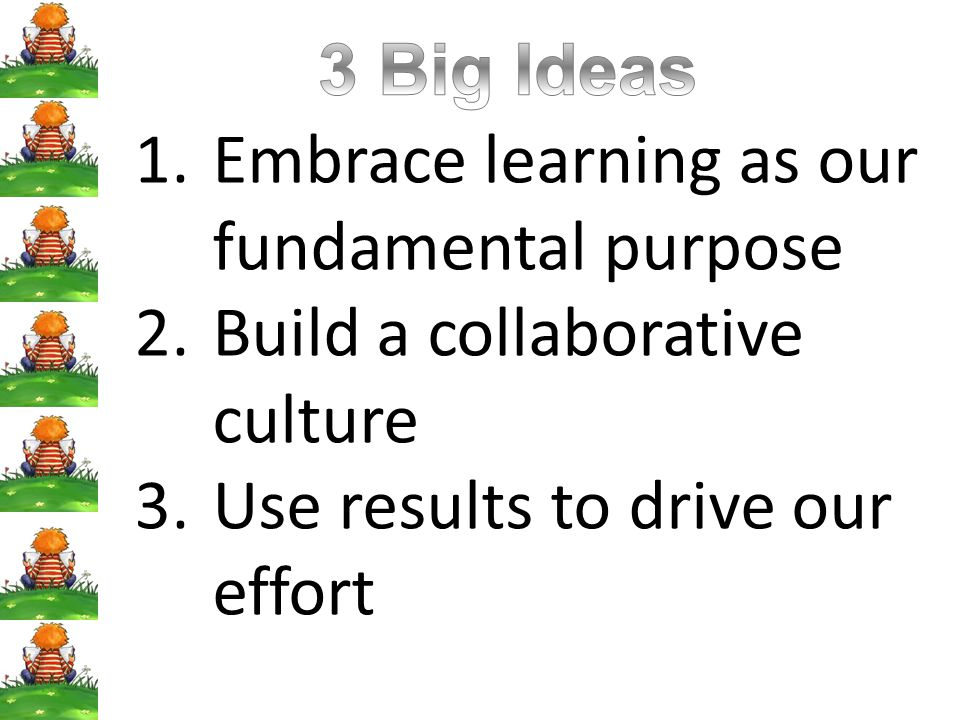 3 Big Ideas Embrace learning as our fundamental purpose.