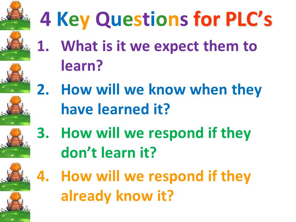 4 Key Questions for PLC's