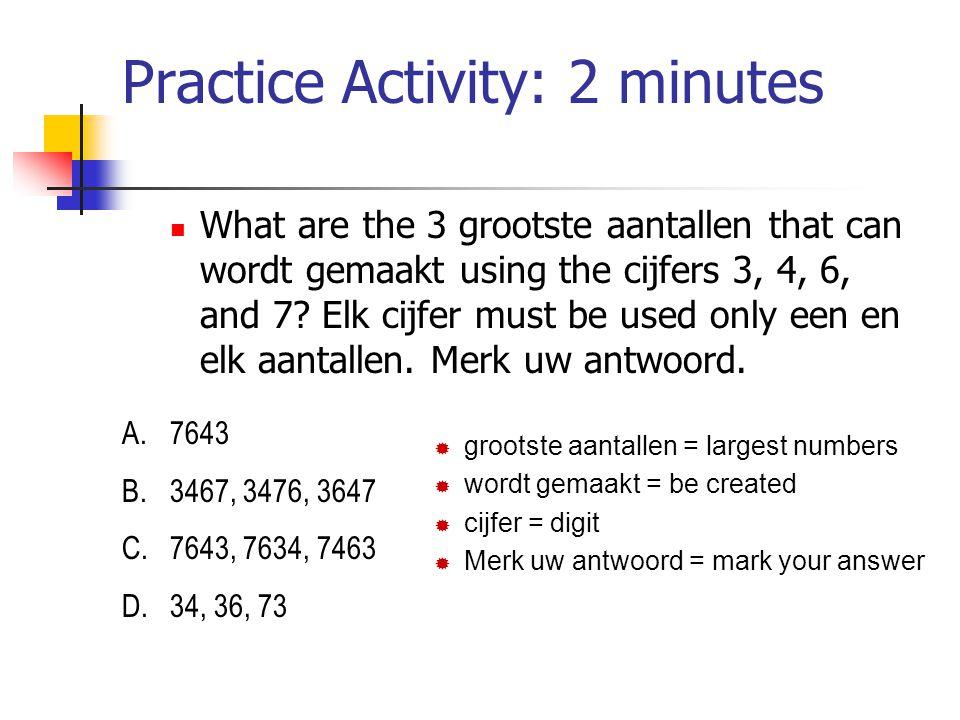 Practice Activity: 2 minutes