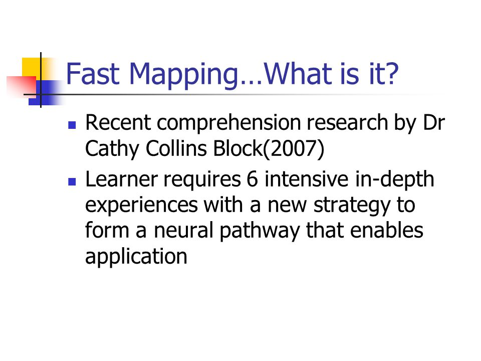 Fast Mapping…What is it