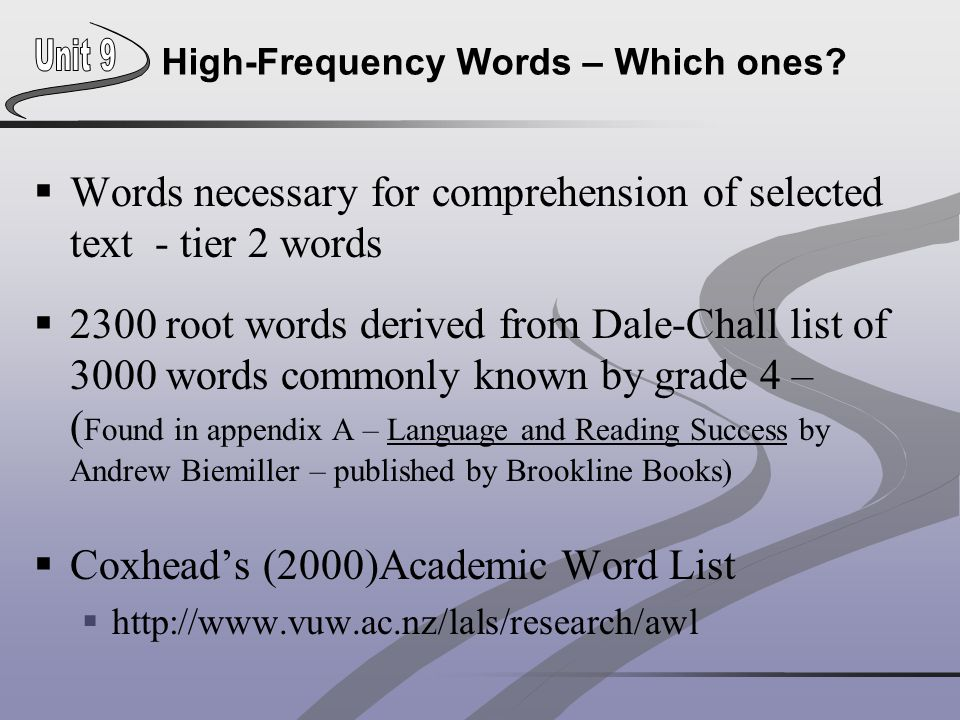 High-Frequency Words – Which ones