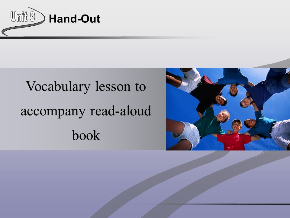 Vocabulary lesson to accompany read-aloud book