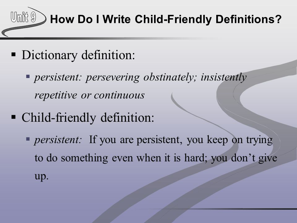 How Do I Write Child-Friendly Definitions