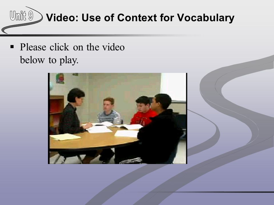 Video: Use of Context for Vocabulary