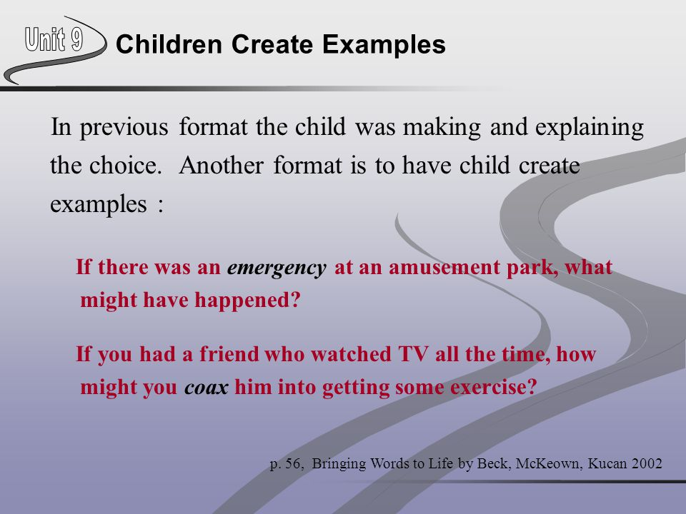 Children Create Examples