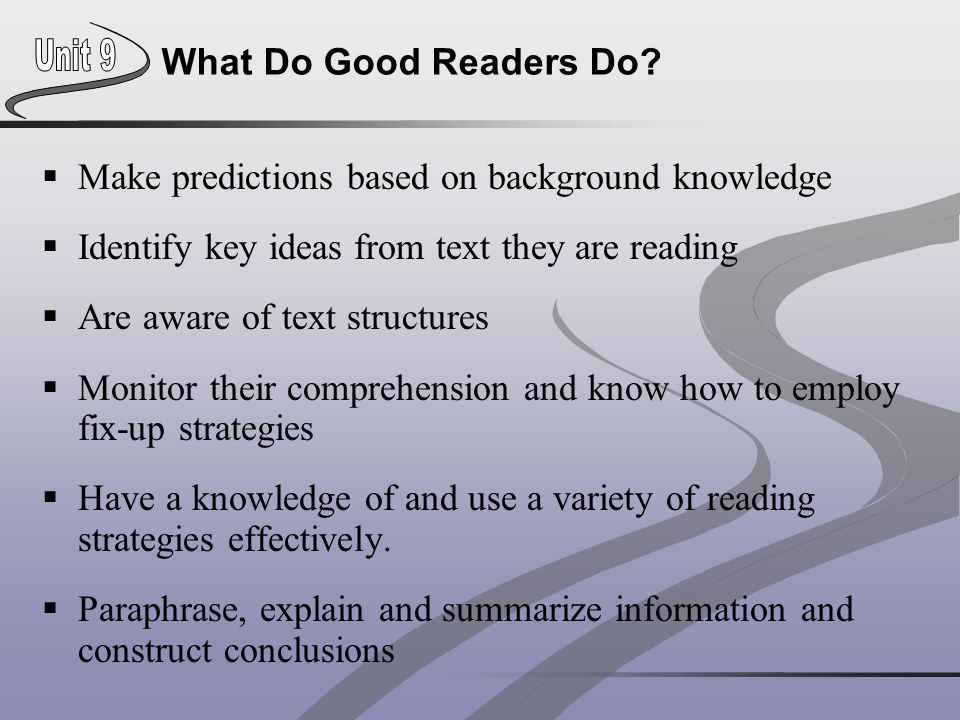Make predictions based on background knowledge