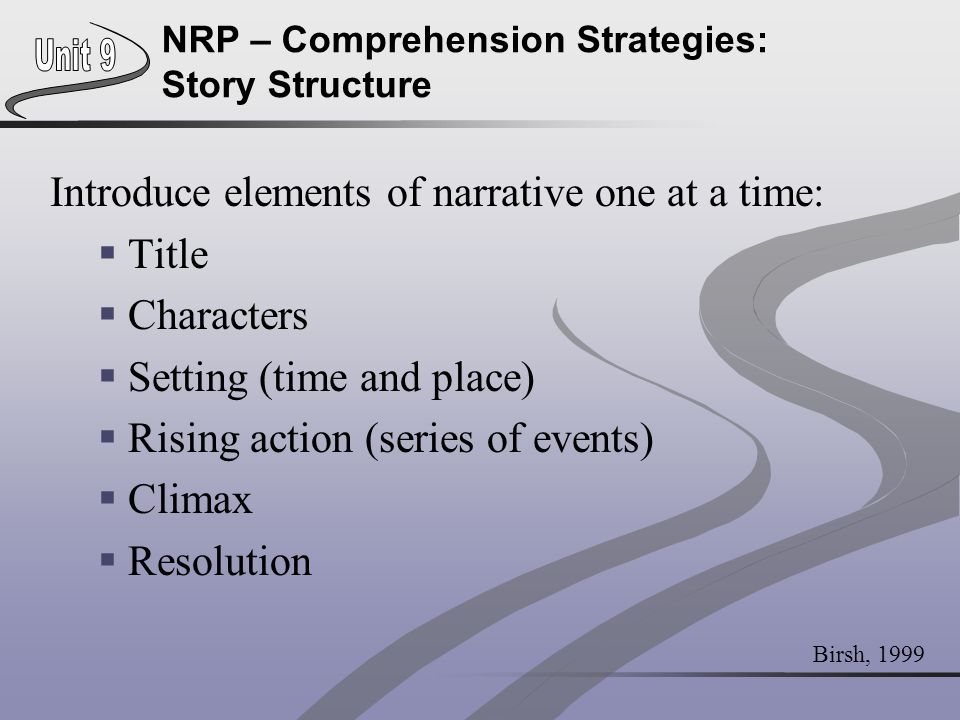 NRP – Comprehension Strategies: Story Structure