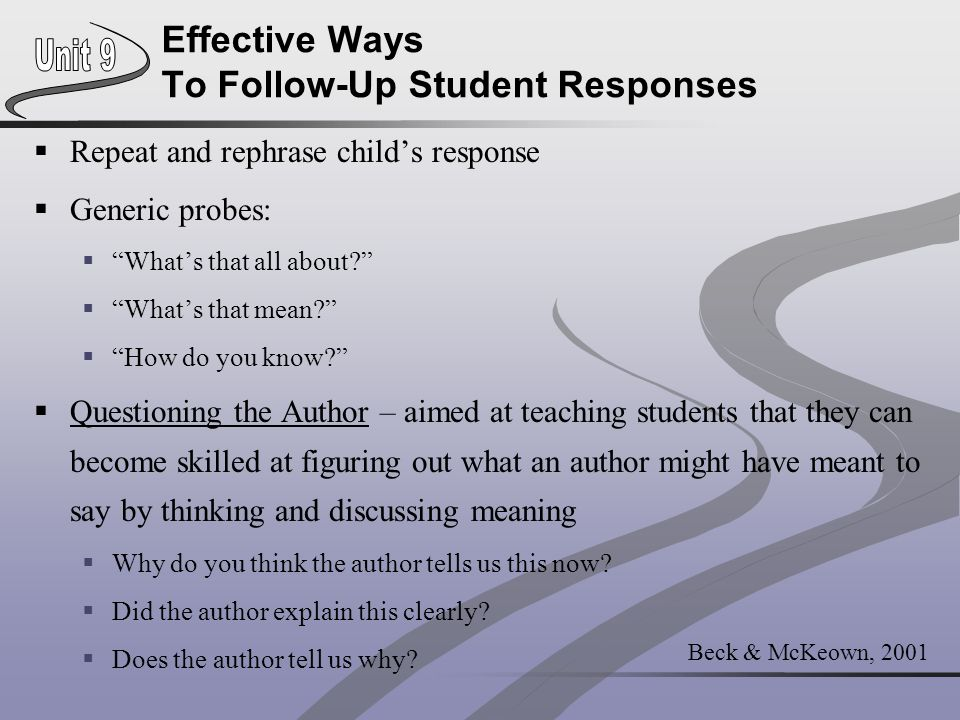 Effective Ways To Follow-Up Student Responses