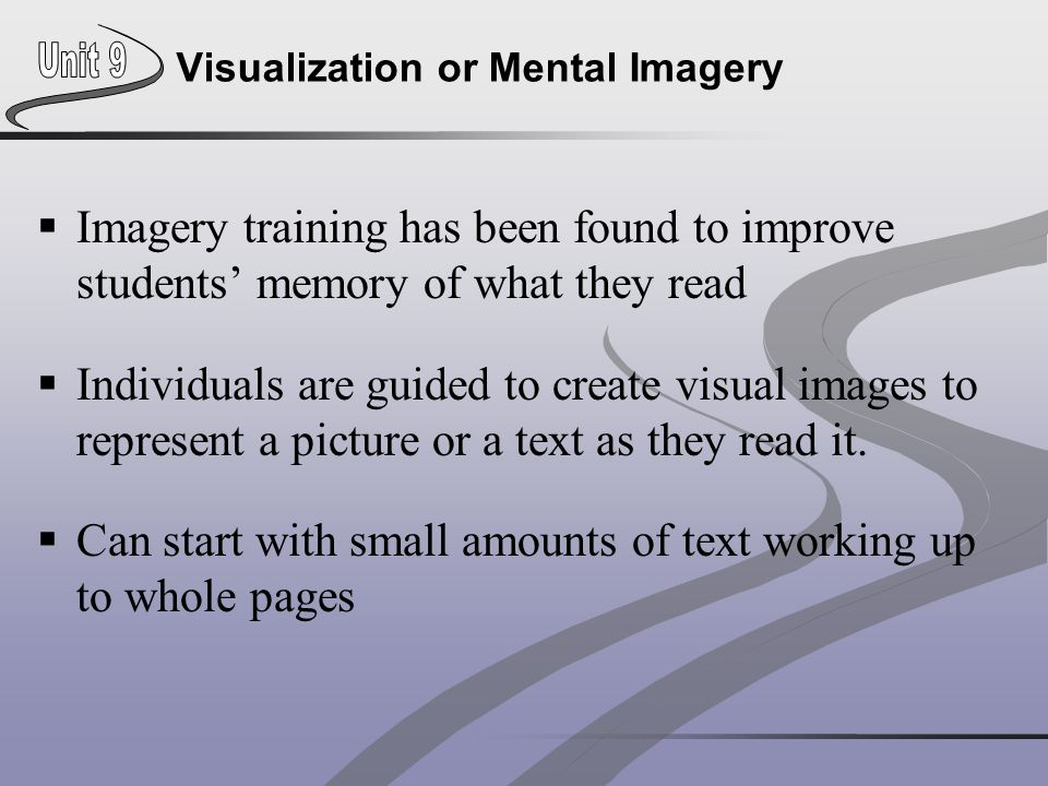 Visualization or Mental Imagery