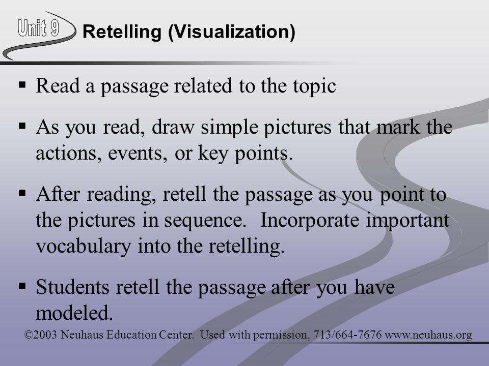 Retelling (Visualization)