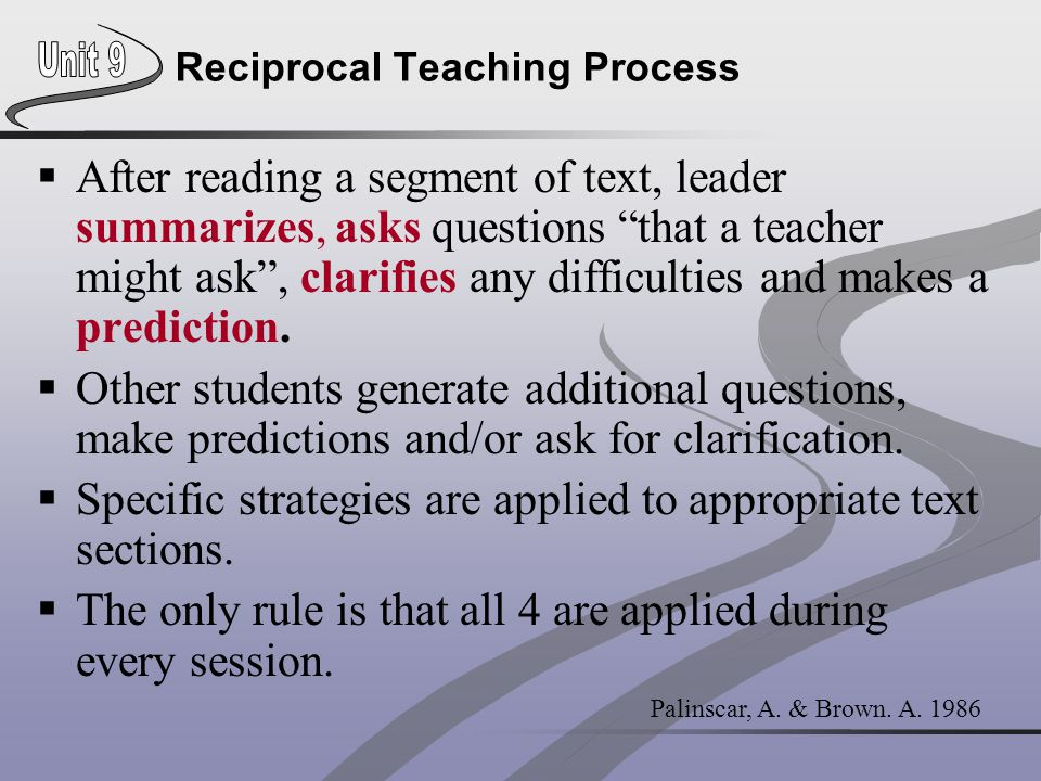 Reciprocal Teaching Process